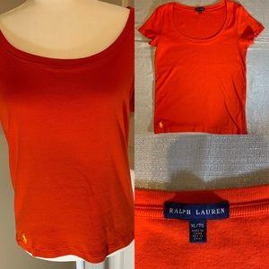 Red Ralph Lauren t short top short sleeve size XL